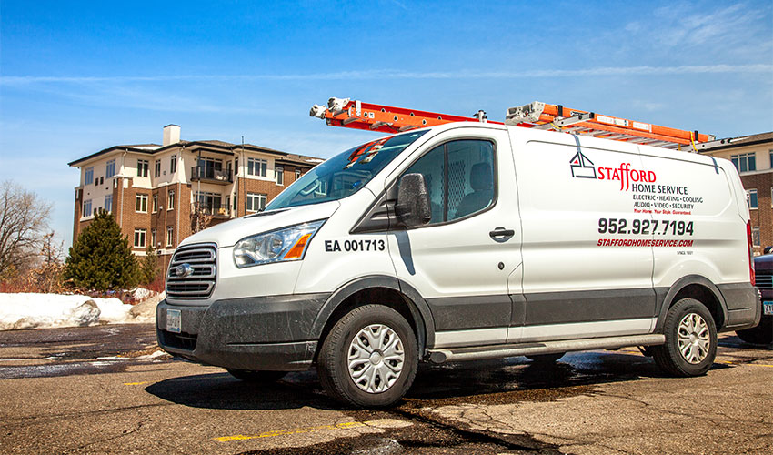 Stafford Home Service-Residential HVAC-Service Van